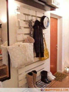 Great Idea for front door storage.