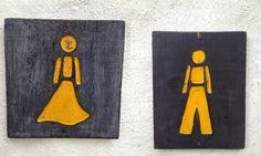 Stadt Land Job: Toilettenschilder