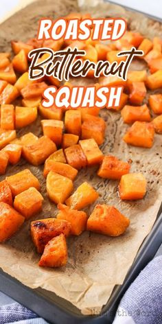Roasted Butternut Squash is a fall-favorite recipe. With its rich, buttery texture and sweet, nutty flavor, it's an irresistible taste of autumn. #numstheword #butternutsquash #sweet #nutty #rich #fallfavorite