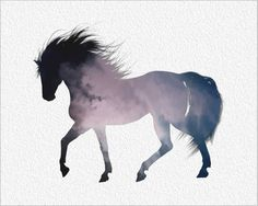 HORSE  Painting Art Print 8 x 10 Smoky  Horse by ImageDeSignStudio, $25.00