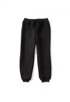 Black 3 MILLY Girls Minis Trapunto Jogger Pant