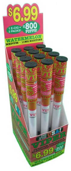 Watermelon flavored Viper Electronic Cigarettes / Electronic Hookahs www.ViperECig.com @ViperECig #eCigarette