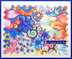 STICKERS ONGLES WATER DECAL - Nail art - Motif fleurs graphiques - Multicolore