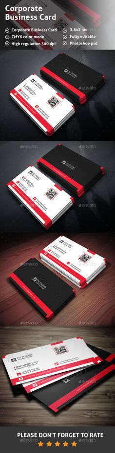Corporate Business Card Template #design Download: http://graphicriver.net/item/corporate-business-card/12772621?ref=ksioks