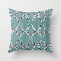 Modern Triangles  Throw Pillow by patternjots - $20.00 copyright © Pattern Jots by Maike Thoma 2013 http://society6.com/patternjots/Modern-Triangles-f62_Pillow
