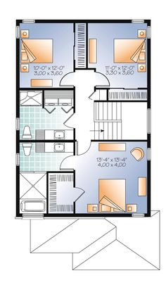 Contemporary Modern Level Two of Plan 76327