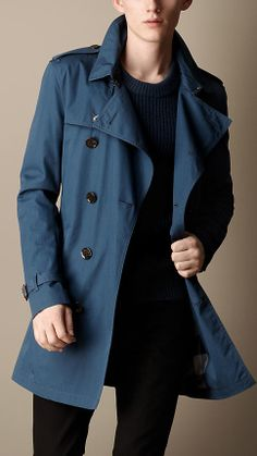 Burberry Mid-Length Cotton Trench Coat on shopstyle.co.uk