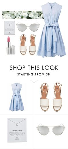 """""""Untitled #51"""" by reham4494 ❤ liked on Polyvore featuring beauty, Chicwish, Dogeared, Chicnova Fashion and TheBalm"""