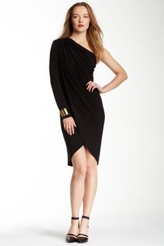 Rachel Zoe Chiffon One Sleeve Dress by Rachel Zoe on @nordstrom_rack