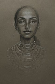 'The moon & the sky' by Sara Golish, via Flickr www.saragolish.com #sade #portrait #drawing