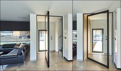 Pivoterende deuren zonder vloerveer.  #pivotdeur #pivoterendedeuren