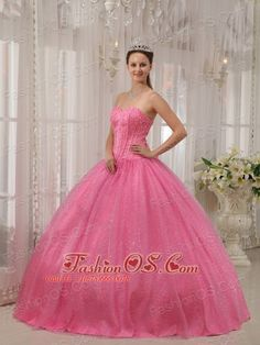 Classical Pink Quinceanera Dress Sweetheart Beading Ball Gown  http://www.fashionos.com    This lovely pink quinceanera dress features a strapless bodice with a sweetheart neckline and luxurious rhinestone. A lace up corset style closure in the back secures the dress in place. Layers of whisper-thin material sweep elegantly to the floor on the skirt. Believe or not? You are absolutely the winner when you wear this ball gown.