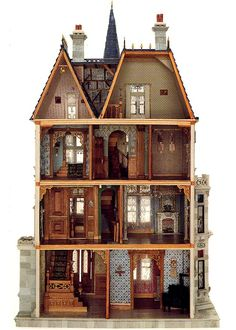 Doll house replica of Vanderbilt´s mansion at 660, 5th Avenue, made by Paul Cumbie in 1883