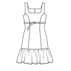 Платье - выкройка № 113 из журнала 2/2008 Burda – выкройки платьев на Burdastyle.ru