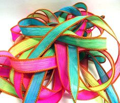 Woodstock 42 inch silk ribbon By Color by ColorKissedSingles, $3.00