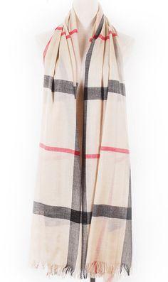 Plain cotton classic scarf