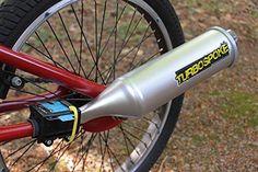 Convierte cualquier #bicicleta en una verdadera moto, al menos en el sonido. Atormenta a todos tus vecinos con este tubo de escape para bicicleta, que añadido al cuadro simula el ruido de una moto. Tu eliges si quieres que suene como una 100cc, 250cc o 500cc. #sport #deportes