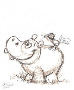 drawings of hippos |