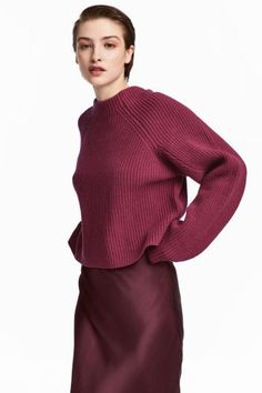 Camisola em malha de lã - Vermelho - SENHORA   H&M PT 1