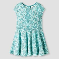Toddler Girls' Knit Jacquard Dress Blue - Genuine Kids from Oshkosh™