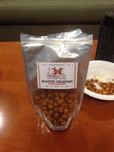 2 Armadillos: Red Cayenne Roasted Chickpeas - sorta like wasabi peas :)
