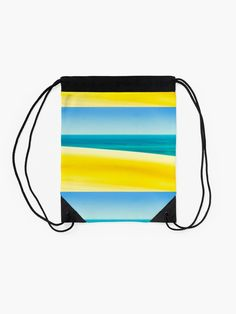 """""""Sand Sea and Sky"""" Drawstring Bag by colinsart Iphone Wallet, Sell Your Art, Woven Fabric, Weaving, Sky, Prints, Bags"""