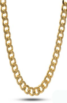 8mm Yellow Gold Cuban Curb Chain by King Ice