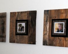 Trio Large Upcycled Pallet Picture Frame