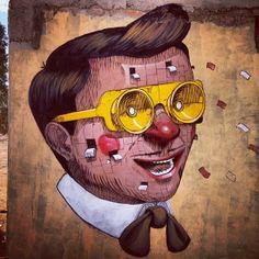 Voici quelques oeuvres monumentales de l'artiste italien Pixel Pancho, basé à Turin. Maniant aussi bien le dessin sur papier que la peinture sur toile, il s'illustre aussi par ses fresques titanesques sur le thème de la robotique.  Voici aujourd'hui une sélection des dernières créations de Pixel Pancho, un univers retro futuriste peuplé de robots et de références aux icônes de la pop-culture.