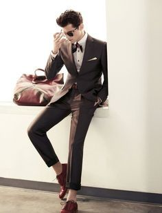 Italian style slim fit brown men suit | Mens Suits Tips