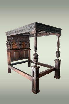 Elizabethan Oak Tester Bed, Marhamchurch Antiques