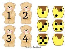 Bear Crafts Preschool, Numbers Preschool, Preschool Classroom, Teddy Bear Day, Goldilocks And The Three Bears, Math School, Bear Theme, Math For Kids, Book Projects
