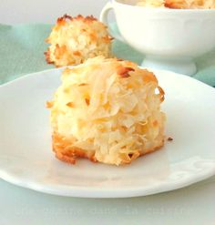 Lemon Coconut Macaroons-so easy!