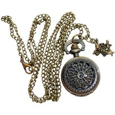 Alice in Wonderland Tea Party Steampunk pocket watch necklace srr (20 CAD) ❤ liked on Polyvore featuring jewelry, necklaces, accessories, steampunk, fillers, steampunk jewelry, steampunk jewellery, pocket watch, womens jewellery and steam punk jewelry