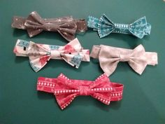 Christmas boys bowties by EdieBees on Etsy