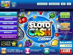 $33 free no deposit required bonus at SlotoCash Casino:  www.nodepositbonus.cc/slotocash  SlotoCash Casino also offers high roller bonuses and other deposit match bonuses.  Games offered include baccarat, blackjack, craps, roulette and video poker and 3 card poker.