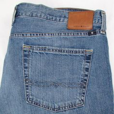 Men Lucky Brand 361 Vintage Straight Jeans Relaxed Fit Semi Distressed 42 X 36 #LuckyBrand #ClassicStraightLeg