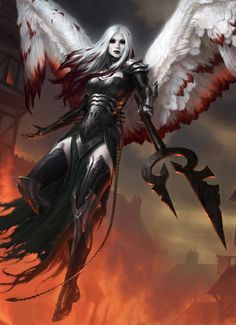 Avacyn, the Purifier MtG Art from Shadows over Innistrad Set by James Ryman Gothic Fantasy Art, Fantasy Art Women, Fantasy Girl, Fantasy Artwork, High Fantasy, Ange Demon, Demon Art, Fantasy Warrior, Fantasy Races
