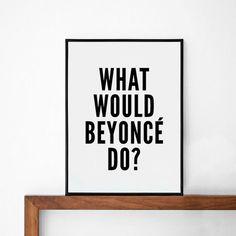 Beyonce affiche art de la typographie décor mural par sinansaydik, $14.00