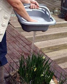 Removable kitchen sink saves up to 80% of gray water that goes to waste and puts it back into your garden, yard, to wash the car, etc. #ArkLabs