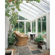 Amdega Glass Lean-To Conservatory from Amdega Machin. I need this on the south side of the house by the kitchen What Is A Conservatory, Conservatory Design, Outdoor Spaces, Outdoor Living, 4 Season Room, House Extensions, Glass House, Cabana, Porches