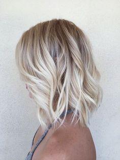 Shoulder Length Blonde Ombre Hair