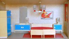 Slaapkamer, VERO Centa, rond 1972, zaak 34 x 16 x 22cm