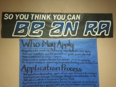 """Advertisement for the RA position with a rework of the """"So You Think You Can Dance"""" logo"""