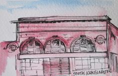 MAKING THE MARROW - ART - South Kensington Sketch - Abandoned Leslie Green stations on the London Underground