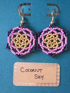 Gaudi-inspired earrings Pink Sugar by CoconutSky on Etsy, $27.50 #Barcelona #Gaudi #handmade