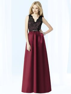 dark long burgundy bridesmaid dress