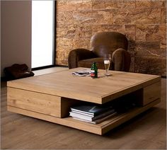 A nice, wide wooden coffee table to bang my shins upon in the dark of night.