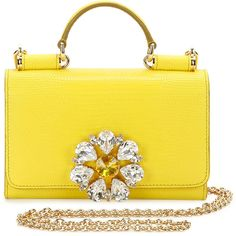 Dolce & Gabbana Miss Sicily Medium Lizard-Stamped Satchel Bag (€1.640) ❤ liked on Polyvore featuring bags, handbags, purses, clutches, yellow, flap handbags, yellow handbag, top handle purses, top handle satchel and rhinestone studded handbags