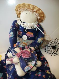 Vintage Primitive Cloth Rag Doll by ALEXLITTLETHINGS on Etsy